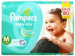 PAMPERS BABY-DRY M (6-11KG) 66 D