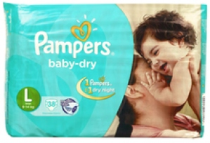 PAMPER BABY-DRY L (9-14KG) 38 D