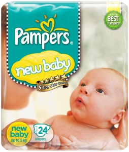 PAMPERS NB-S(UP TO 8 KG) 46 DIAPERS