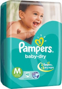 PAMPERS BABY-DRY M (6-11KG) 42 D