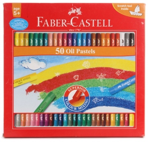 FABER-CASTELL 50 OIL PASTELS 60MM