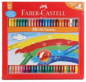 FABER-CASTELL 50 OIL PASTELS 60MM