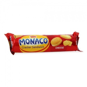 PARLE MONACO CHEESE CRACKER SANDWICH 100G