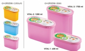 NAYASA VITAL OVAL CONTAINER 3PC SET 1200ML