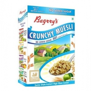 BAGRRY`S CRUNCHY MUESLI NO ADDED SUGAR 400G