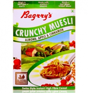 BAGRRY CRUNCHY MUESLI ALMOND;APPLE AND CINNAMON