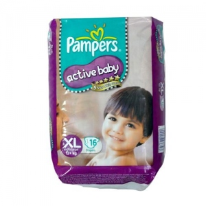 PAMPERS ACTIVE BABY XL (12+KG) 16 DIAPERS