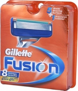 GILLETTE FUSION CARTRIDGES 8