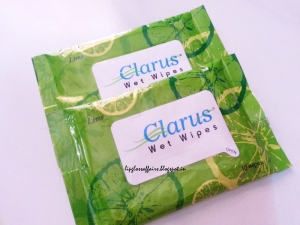 CLARUS WET WIPES LIME 10`S