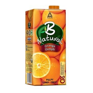 B NATURAL ORANGE OOMPH 1L
