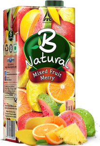 B NATURAL MIXED FRUIT MERRY 1L