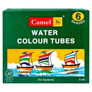 CAMEL WATER COLOUR TUBES 6 SHADES