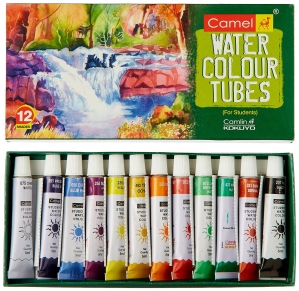 CAMEL WATER COLOUR TUBES 12 SHADES