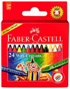 FABER-CASTELL 24 WAX CRAYONS