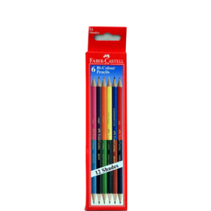 FABER-CASTELL 6 BI-COLOUR PENCILS 174MM