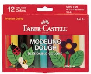 FABER-CASTELL 6 MODELLING DOUGH