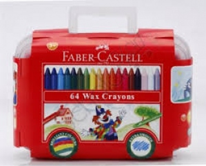 FABER-CASTELL 64 WAX CRAYONS