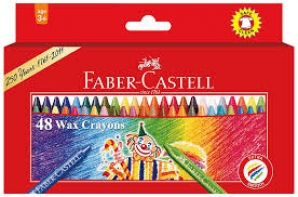 FABER-CASTELL 48 WAX CRAYONS