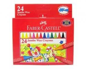 FABER-CASTELL 24 JUMBO WAX CRAYONS