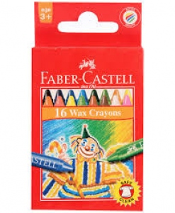 FABER-CASTELL 16 WAX CRAYONS