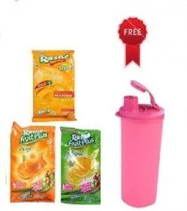 RASNA FRUIT PLUS + ASSORTED 375 + FREE 1L SIPPER