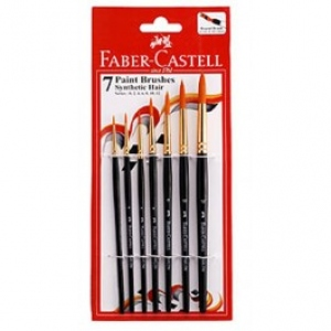 FABER CASTELL 7 BRUSHES ROUND