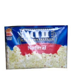 ACT II INST POPCORN MICORWAVE NATURAL 99G