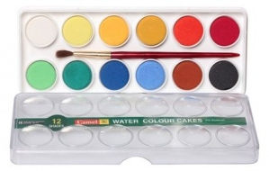 CAMEL WATER COLORS CAKES 12 SHADES SMALL