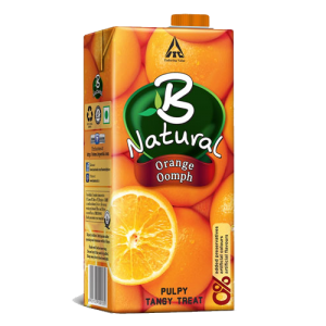 B NATURAL ORANGE OOMPH 200ML