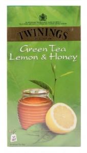 TWININGS GREEN TEA LEMON & HONEY 25 TEA BAGS