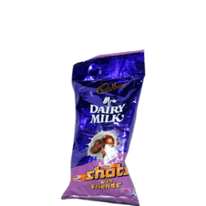 CADBURY DAIRY MILK SHOTS  5/-