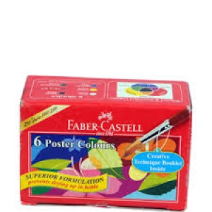 FABER-CASTELL 6 POSTER COLOURS