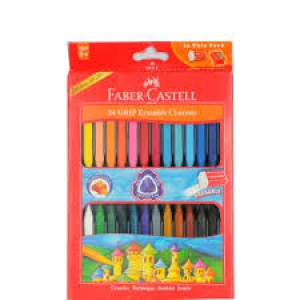 FABER-CASTELL 24 GRIP ERASABLE CRAYONS 90MM