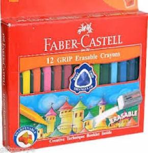 FABER-CASTELL 12 GRIP ERASABLE CRAYONS
