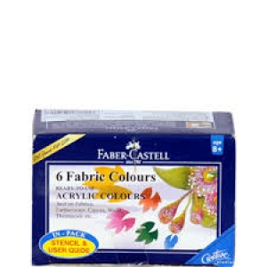 FABER-CASTELL 6 FABRIC COLOURS