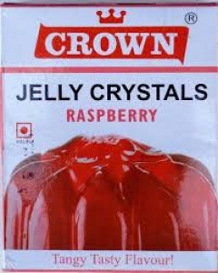 CROWN JELLY CRYSTALS RASPBERRY 90G