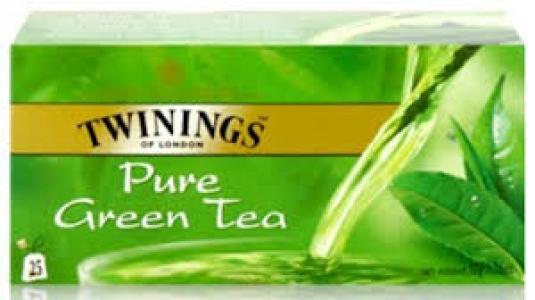 TWININGS PURE GREEN TEA  25 SACHETS