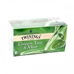 TWININGS GREEN TEA & MINT 25 SACHETS