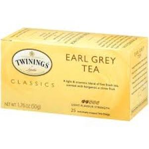 TWININGS EARL GREY TEA 25 TEA BAGS