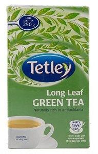 TETLEY LONG LEAF GREEN TEA 250G