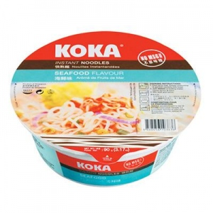 KOKA SEAFOOD FLAV INST NOODLES BOWL 90G