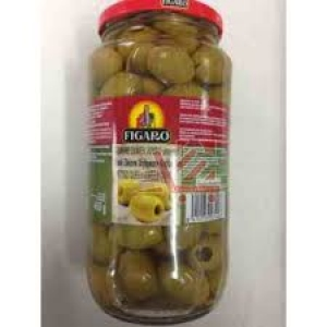 FIGARO QUEEN GREEN OLIVES PITTED 450G