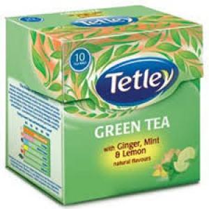 TETLEY GREEN TEA GINGER MINT & LEMON 10 BAGS