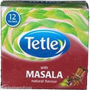 TETLEY WITH MASALA FLAVOUR 12 TEA BAGS