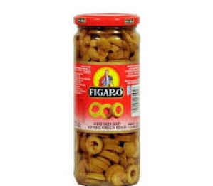 FIGARO GREEN OLIVES PITTED 450G