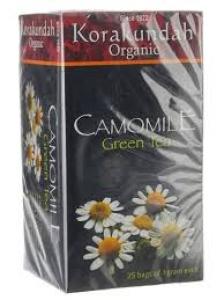 KORAKUNDAH ORGANIC CAMOMILE GREEN TEA BAGS 25`S