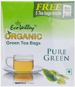 ECO VALLEY ORGANIC PURE GREEN TEA 12 TEA BAGS
