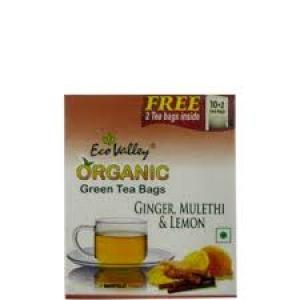 ECO VALLEY ORGANIC GINGER;MULETHI & LEM 10 TEA BAG