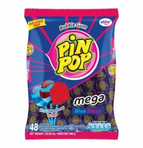 ALDOR BUBBLE GUM PIN POP BLUE BERRY 816G
