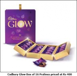 CADBURY GLOW 16 LUXURIOUS PRALINES 160G